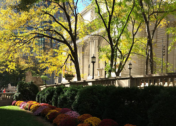 Autumn Leaves and Flowers at the New York Public Library