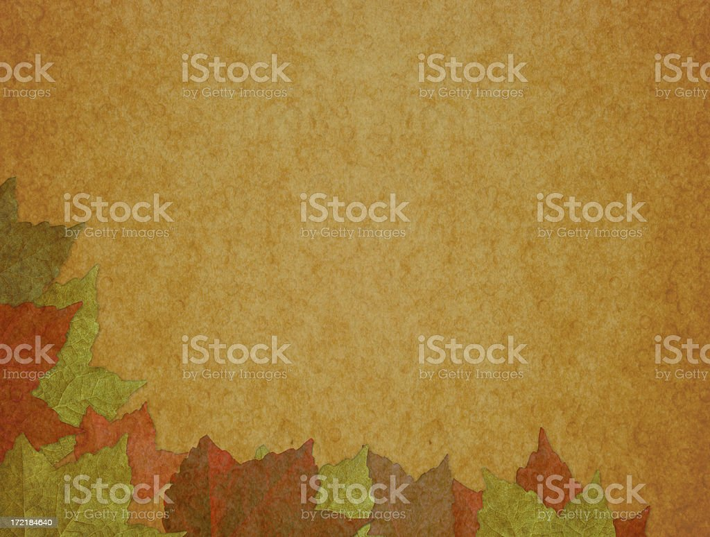 Autumn Leaves in Seasonal Background royalty-free stock photo