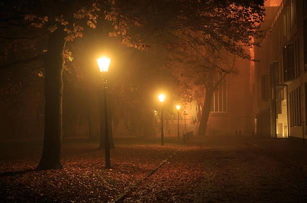 Autumn lights stock photo