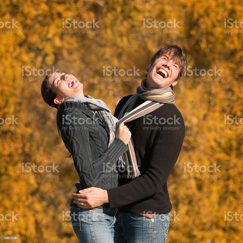 Herbst Liebe-offene paar Porträt (XXXL – Foto