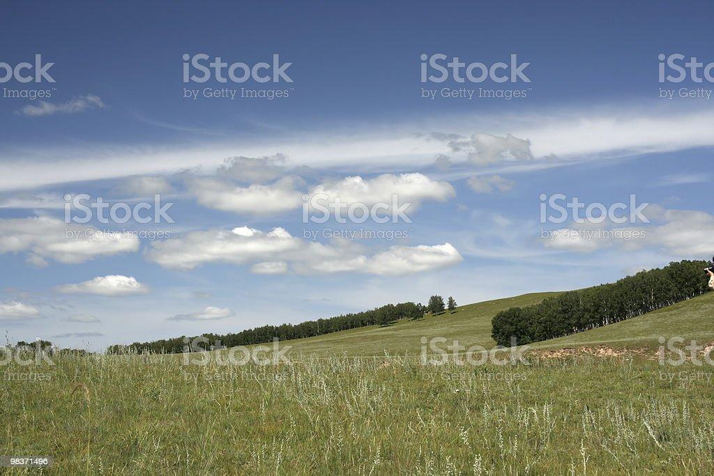 autumn meadow royalty-free stock photo