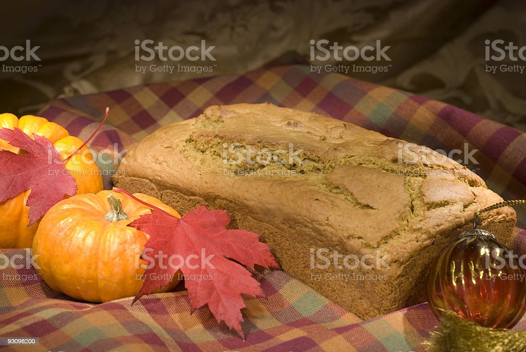Autumn Menu - Pumpkin Bread royalty-free stock photo