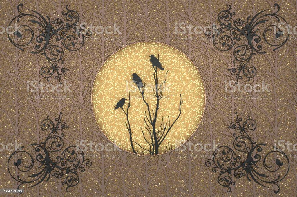 가 분위기 종이 관상 주름을 달기 배경 잘라 - 로열티 프리 가을 스톡 사진