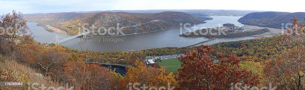 Autumn Mountain aerial view panorama stock photo