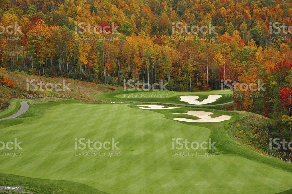 Autumn Mountain Golf Course stock photo