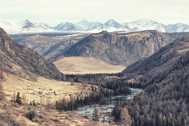 Autumn mountain landscape. Altai mountains. stock photo