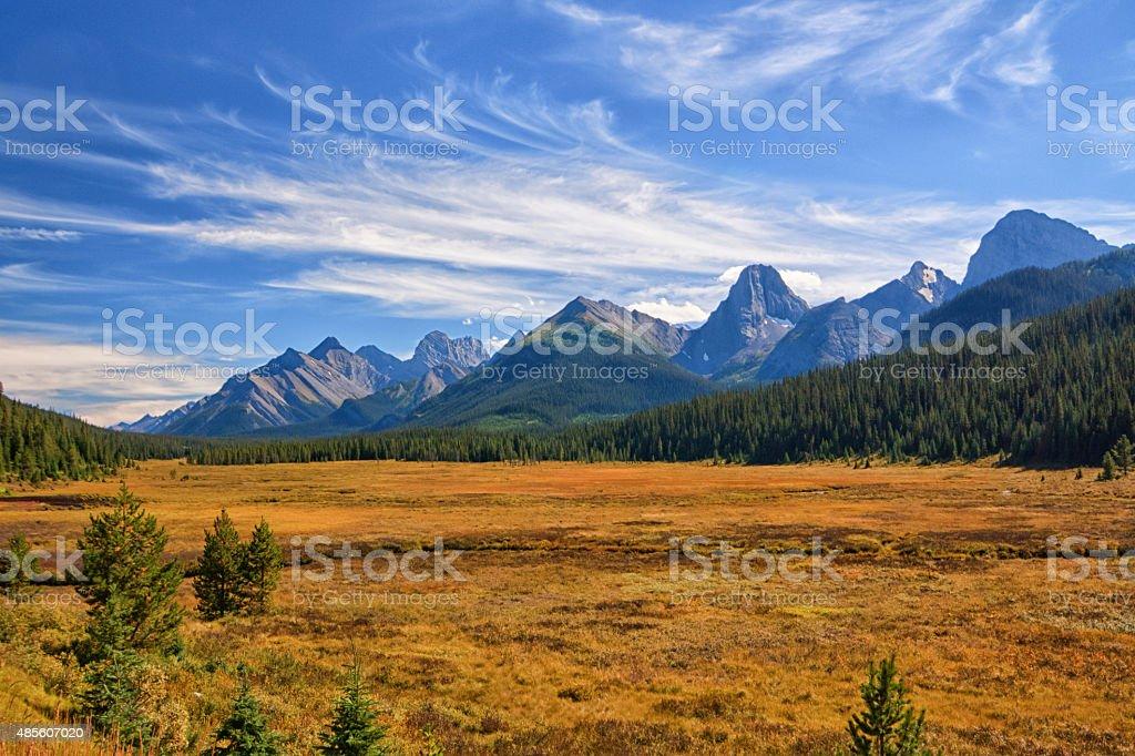 Autunno paesaggio di montagna - foto stock