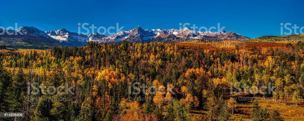 Autumn Mountain Panorama stock photo