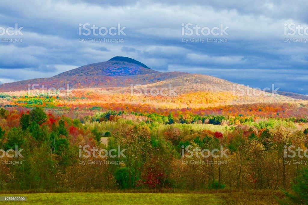 Autumn Mountain point of view. stock photo
