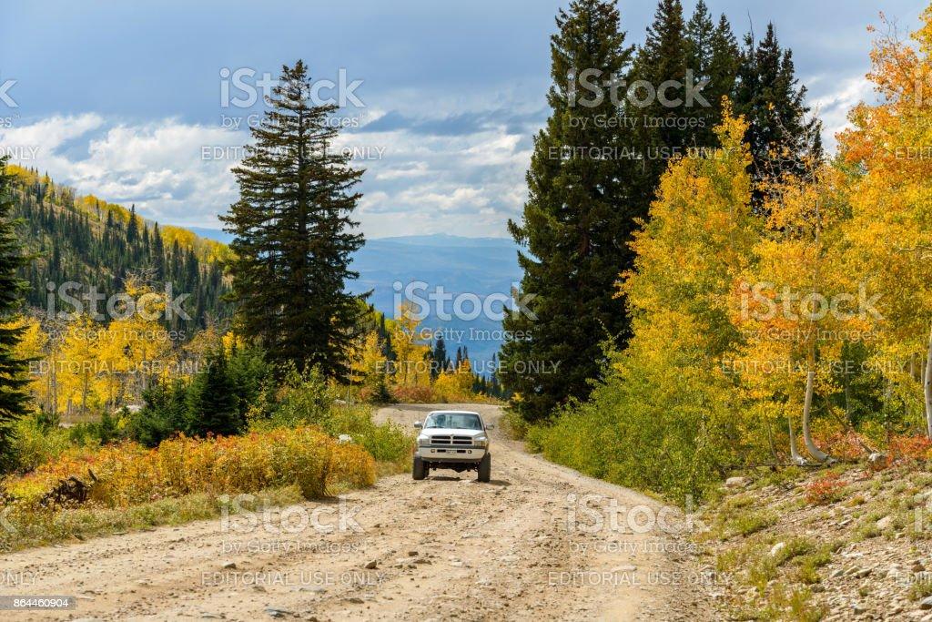 Autumn Mountain Road stock photo