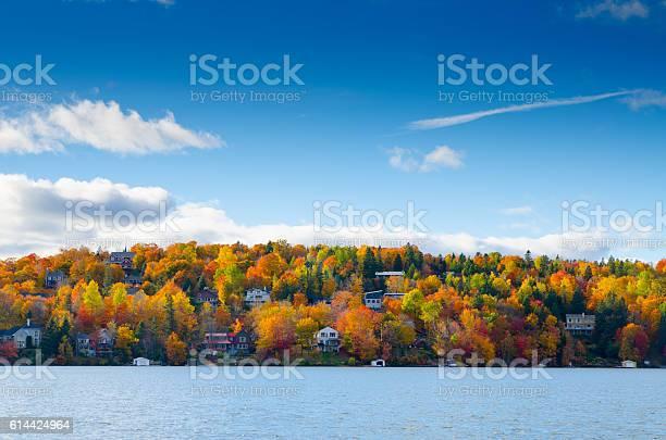 Photo of Autumn mountain with lake