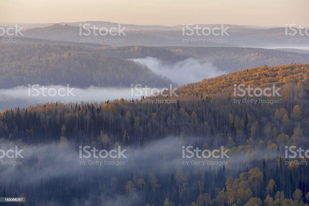 Autumn mountains. Altay motives. stock photo