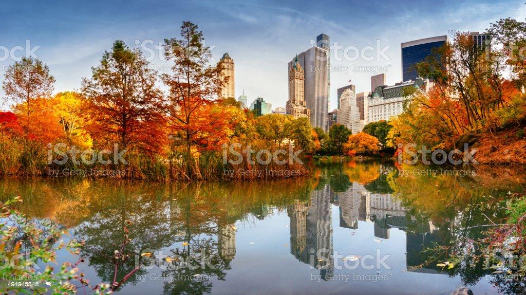 Autumn New York City Skyline stock photo