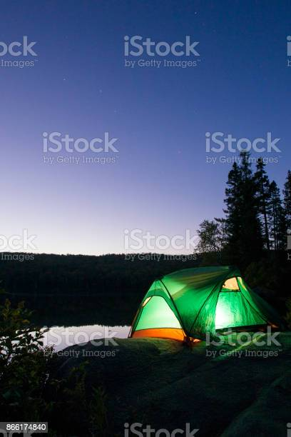 Photo of Autumn night camping