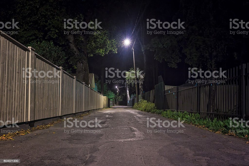 Autumn Night In Nomme stock photo