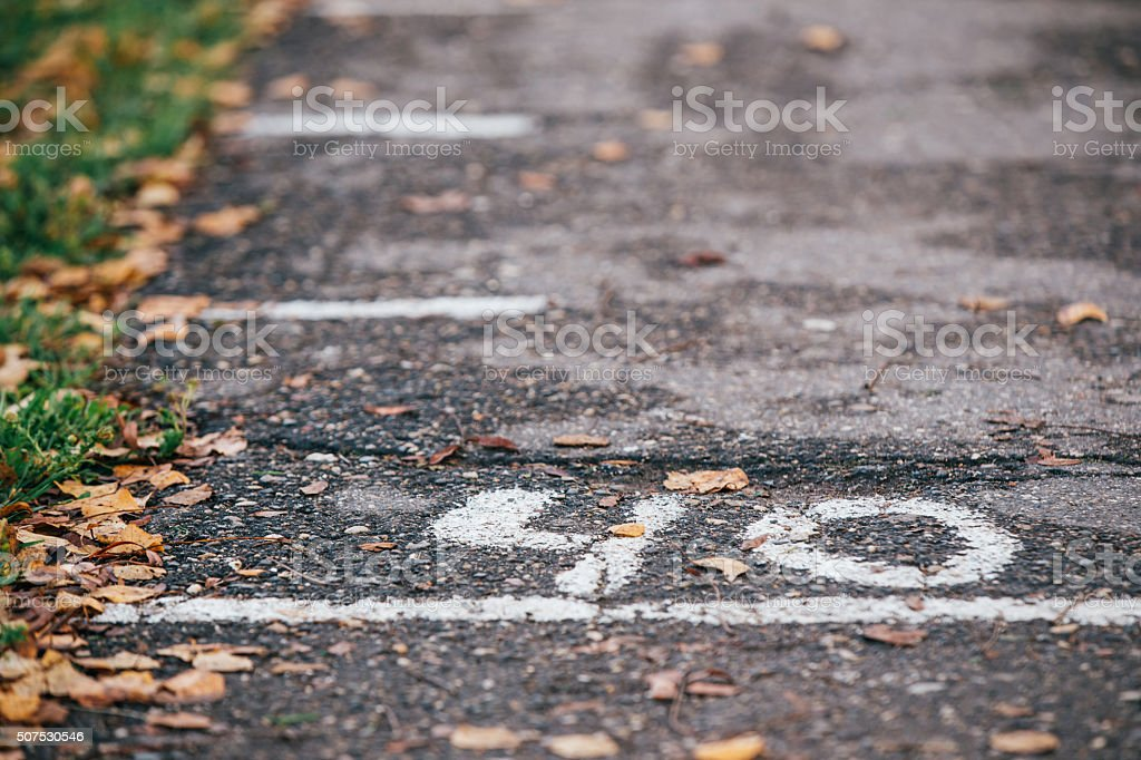 Autumn of life. number 40 stock photo