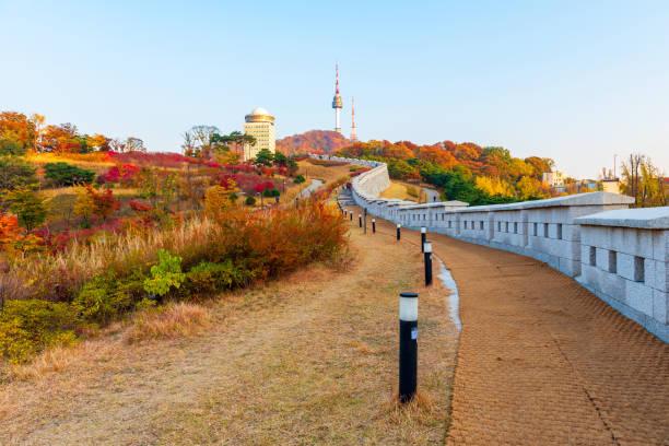Otoño de la Torre Namsan en Seúl, Corea del Sur. - foto de stock