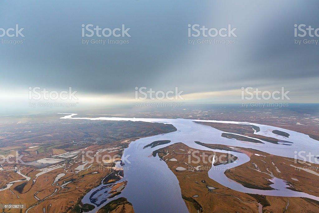 Autumn on Amur river, Khabarovsk – Foto