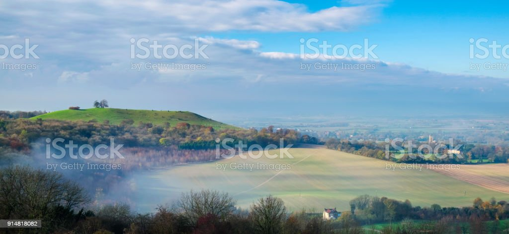 Autumn On Coombe Hill In The Chilterns, Buckinghamshire stock photo