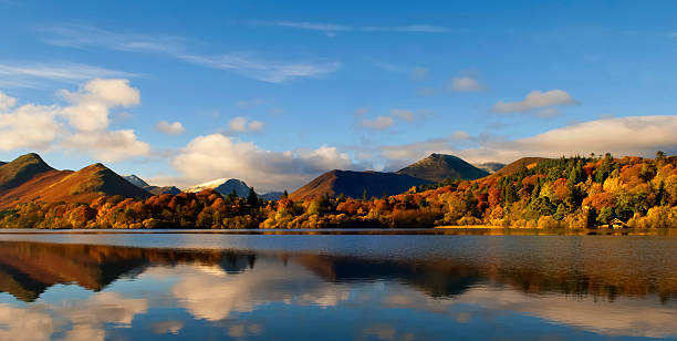 Autumn on Derwentwater stock photo