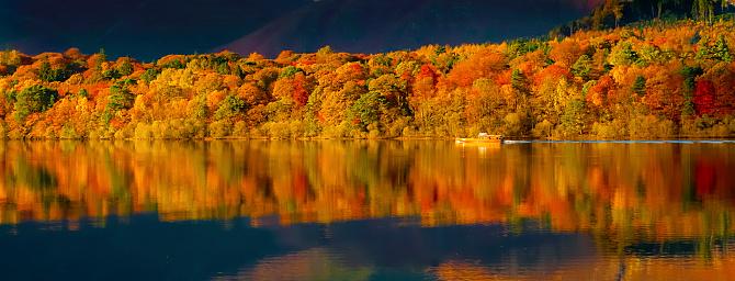 Autumn On Derwentwater Stock Photo - Download Image Now