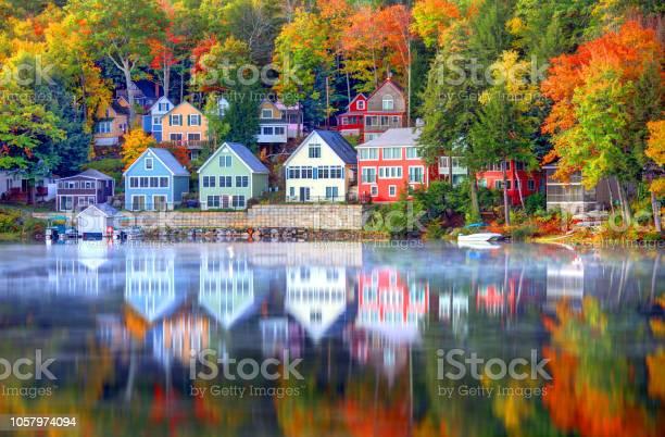 Photo of Autumn on Lake Winnipesaukee in New Hampshire