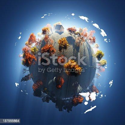 istock autumn on small planet 137555864