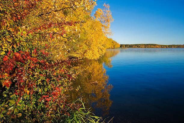 Autumn on Sylvan Lake stock photo