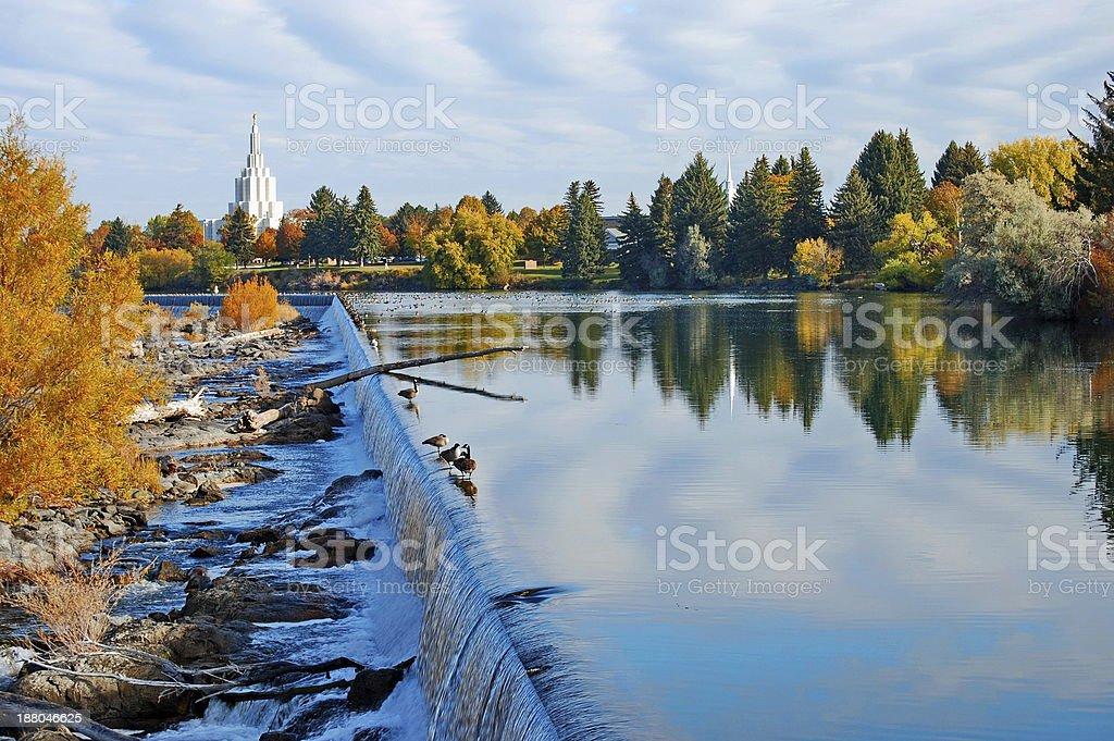 Autumn on the Falls stock photo