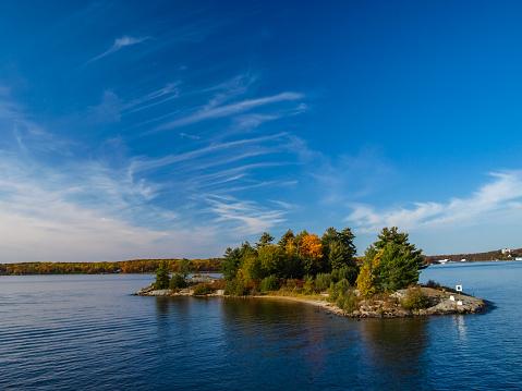 Autumn on the shore of Lake Huron, a beautiful autumn landscape