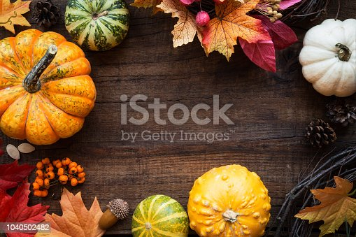 istock Autumn or fall frame with copyspace 1040502482