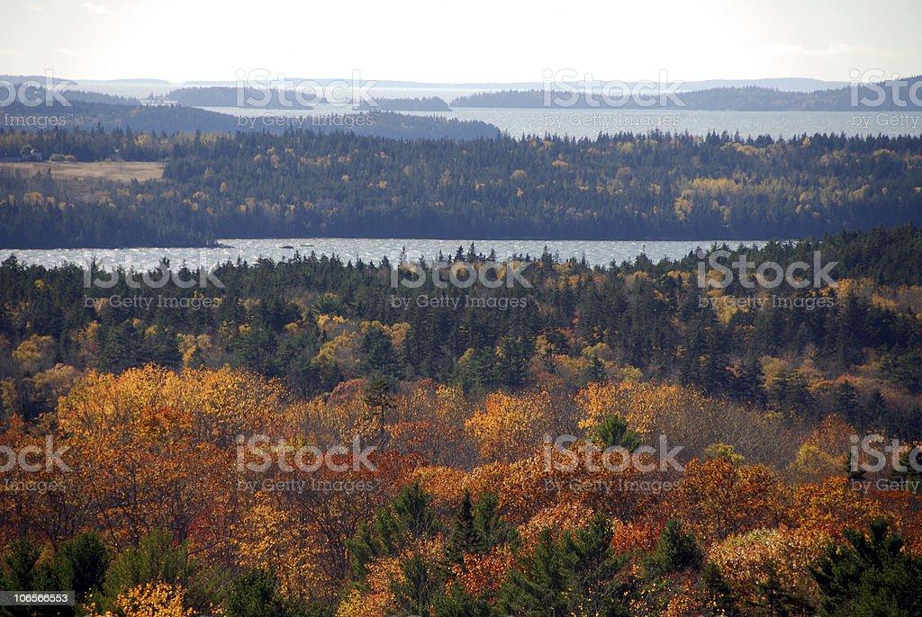 Autumn Overlook stock photo