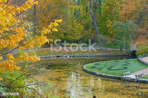 istock Autumn park lake 524744379