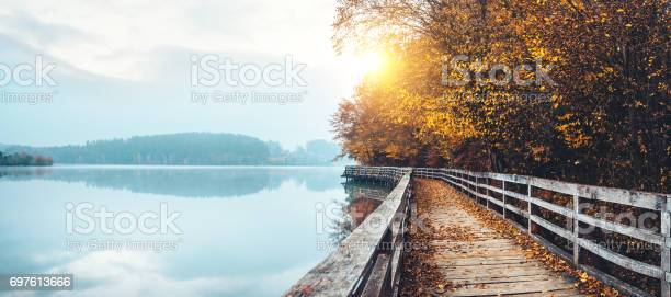 Photo of Autumn Path By The Lake
