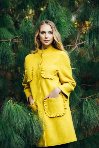 otoño foto de una niña hermosa - moda de invierno fotografías e imágenes de stock