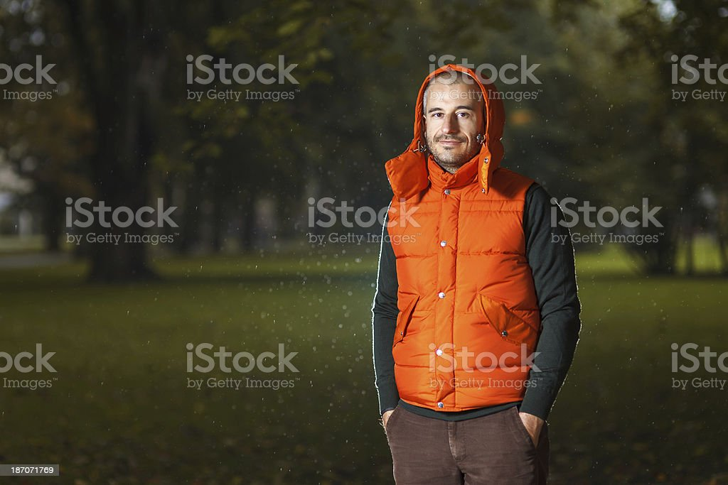 Autumn portrait in the city park royalty-free stock photo