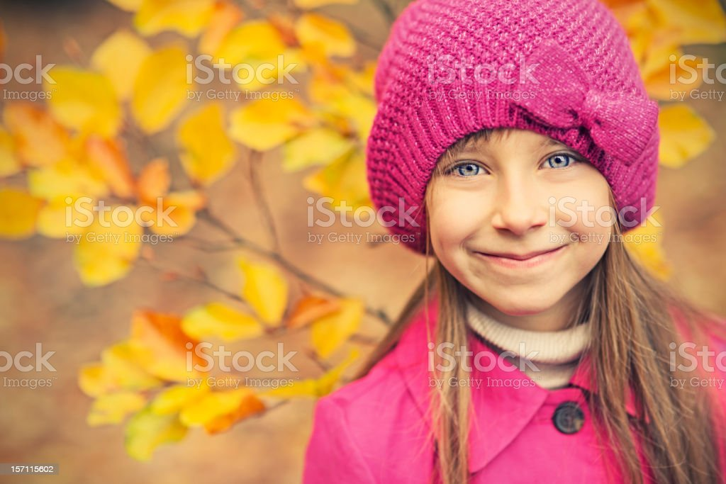 Autumn portrait of a little girl royalty-free stock photo