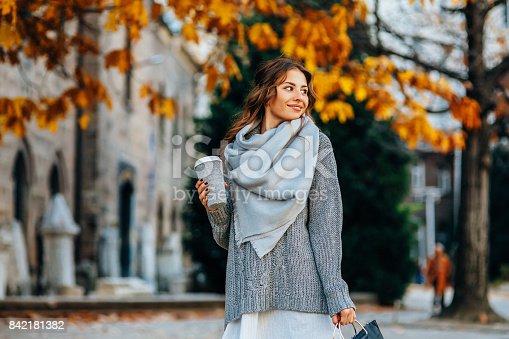istock Autumn portrait of a woman 842181382