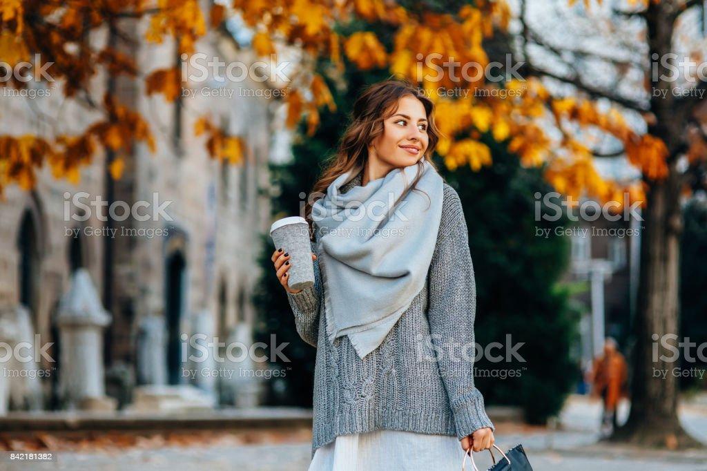 秋の女性のポートレート ストックフォト