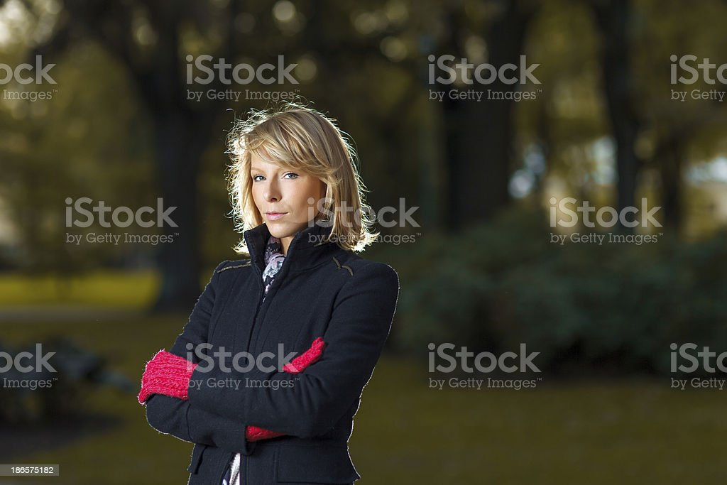 Autumn Portrait of Young Beautiful Woman royalty-free stock photo