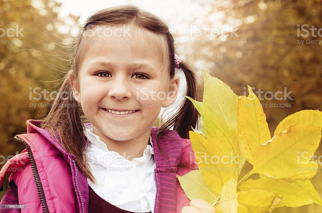 Autumn portrait. royalty-free stock photo
