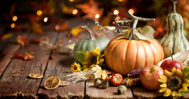 Autumn Pumpkin Background stock photo