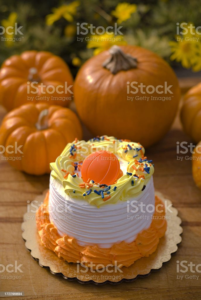 Peachy Autumn Pumpkin Birthday Cake Stock Photo Download Image Now Istock Personalised Birthday Cards Beptaeletsinfo