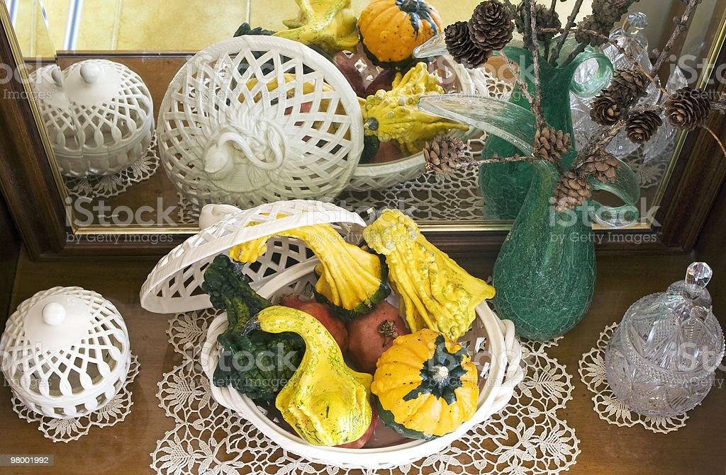 Autumn pumpkin composition royalty-free stock photo