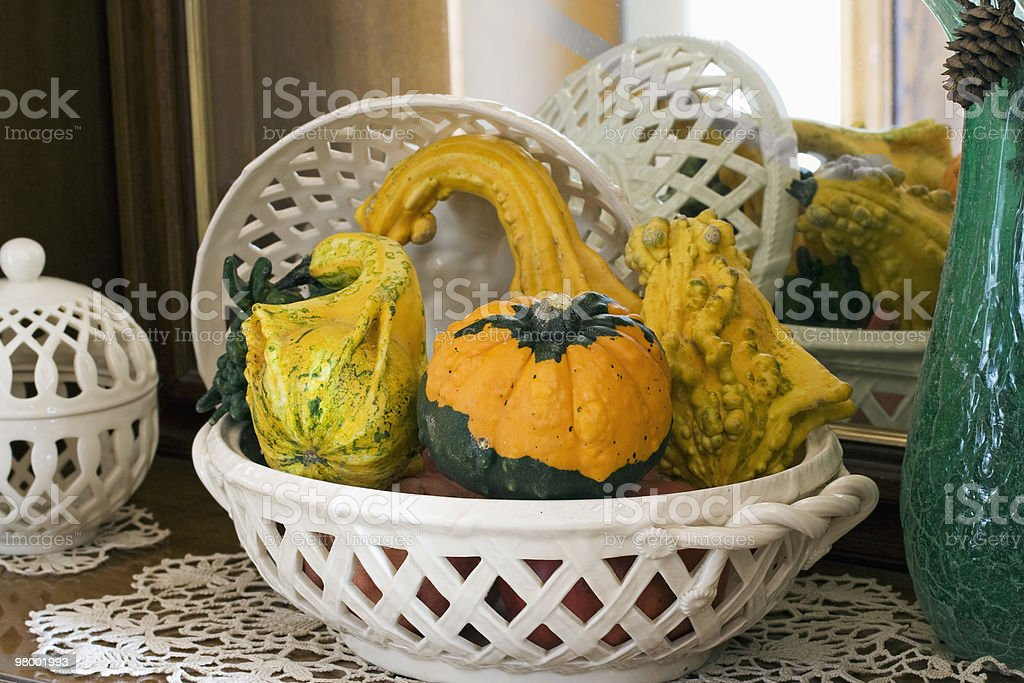 Autumn pumpkin composition royalty-free stock photo