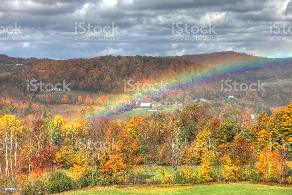 Autumn Rainbow stock photo
