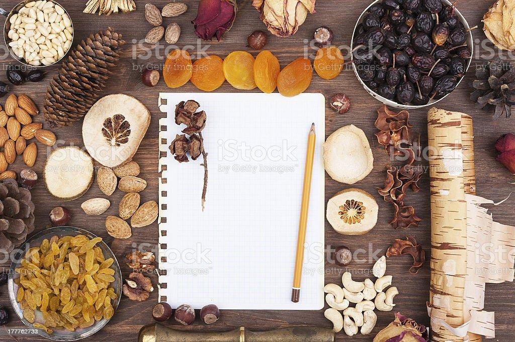 Autumn recipes royalty-free stock photo
