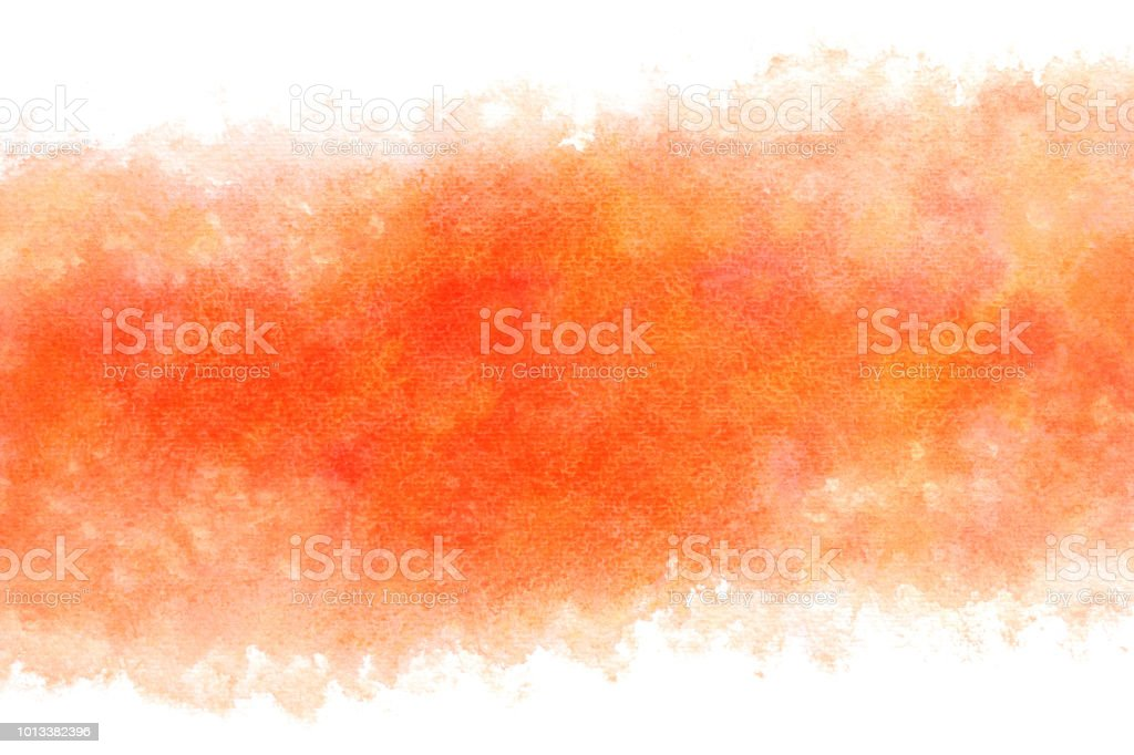 autumn red colored watercolor abstract or vintage paint background stock photo
