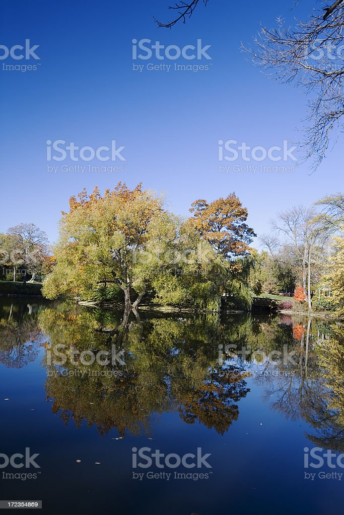 Autumn Reflections  in the Midwest royalty-free stock photo