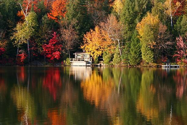 Autumn reflections stock photo
